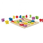 Hape Numbers Stand up Kid's Wooden Learning Puzzle