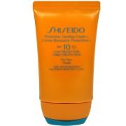 Kosmetika Shiseido 10 Protective Tanning Cream SPF10 50ml W Krém na opalování obličeje