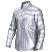 Maatoverhemd wit/blauw 54291
