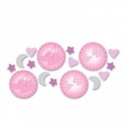 Confeti roz pentru botez, Amscan 997295