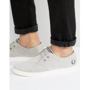 Fred Perry Byron Low Suede Trainers - Grey (Sizes: UK 7, UK 9, UK 6)