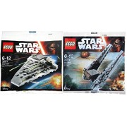 Lego Star Wars Kylo Ren's Command Shuttle & First Order Star Destroyer Fighter Starship set - Polybag 30277 Force Awakens edition Building Set