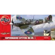 Kit constructie si pictura avion Supermarine Spitfire Mk VB scara 124