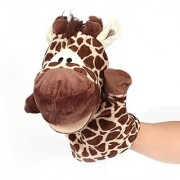B&Y Zoo Animal Puppet Set-moveable mouths easy for children and caregivers to role-play together Giraffe