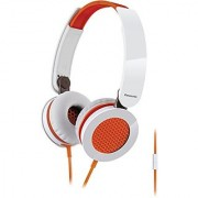 Panasonic RP-HXS200M-D Sound Rush On-Ear Headphones Orange/White
