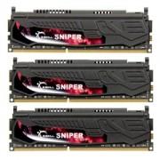 Memorie G.Skill Sniper 12GB (3x4GB) DDR3 PC3-12800 CL9 1.25V 1600MHz Triple Channel Kit, F3-12800CL9T-12GBSR2