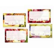 Etichete pentru conserve de fructe si dulceturi, set de 84