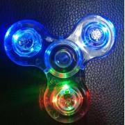 Nouveau Transparent Led Fidget Spinner Flashing Edc Finger Hand Spinner Stress Reliever Finger Desk Toy Plastic Spinner Glow In Dark