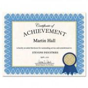 Certificate Kit, Blue Spiral