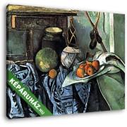 Paul Cézanne: Csendélet padlizsánnal (30x25 cm, Vászonkép )