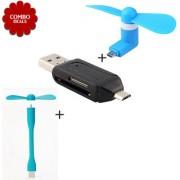 Combo of USB Fan + Smart OTG + V8 Fan
