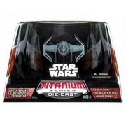 Star Wars Titanium Series Die-Cast Darth Vaders Tie Advanced StarFighter