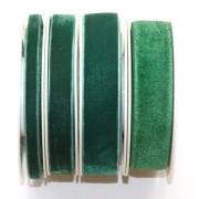 Zamatová stuha zelená 9mm