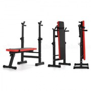 Kobo Adjustable Home Gym Weight Bench Press Exercise Equipment Seat Squat Stand Dip