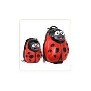 Set POLKA the Ladybird - Valiza tip trolley si ghiozdan (rucsac)