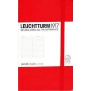 Caiet Leuchtturm A6,185f,dict,rosu
