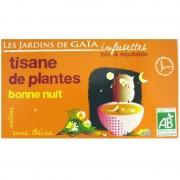 Infusettes tisane Bonne nuit Jardins de Gaïa