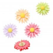 12 PCS Pintura hermosa Flores Pasadores Chincheta Dibujo Herramienta de papelería