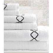 6 Piece Egyptian Cotton Towel Set Quatrefoil