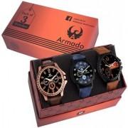 Armado Combo of 3 Men Watches AR-811261