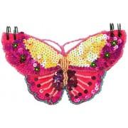 Great Gizmos - Taccuino Pink Poppy a forma di farfalla decorata con lustrini