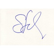 Gina Gershon Autographed Index Card