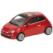 Minichamps 640121700 - Coche de colección Fiat 500'07, escala 1/64, Rojo