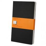 Moleskine Set de 3 cahiers lignés Grand format Couverture souple 13 x 21 cm Noir