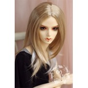 Tita-Doremi Peluca BJD SD MSD Minifee MDD DZ DOD LUTS Dollfie Blonde Mix Mohair Doll Toy Head Wig Hair 1/4 7-8 inch 18-19cm (Peluca solamente, no una muñeca )