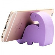 Plinrise Mini Dinosaur Shape Cute Cell Phone Mounts Candy Color Creative Ipad Set Material of Silica Ge Size:2.4 X 2.6 X 1.1 for Iphone Ipad Samsung Phone Tablet Plate Pc (Purple)