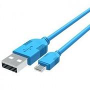 Alcatel One Touch Idol 2 Mini S Câble Data Micro Usb Bleu 1 Mètre Pour Charge, Synchronisation Et Transfert De Données.