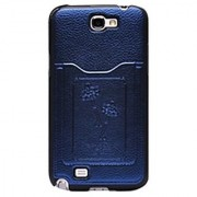 VOIA SG-B526BLE Premium Case for Samsung Galaxy Note 2 - 1 Pack - Retail Packaging - Navy Blue/Black