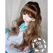 Tita-Doremi Peluca BJD YOSD BB Baby DZ DOD LUTS Dollfie Brown Mohair Toy Head Wig Hair 1/6 6-7 inch 15-17cm (Peluca solamente, no una muñeca )
