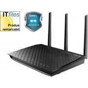 Router Wireless ASUS RT-N66U, 450 + 450 Mbps, Dual Band, Gigabit, Suport VPN server, USB Storage, Print si Media Server