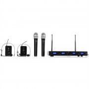 Malone UHF 550 Quartett3 4 canale UHF kit microfon fără fir (BR4-UHF-550-3)