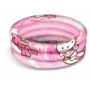 Mondo piscină cu trei inele pentru copii Hello Kitty 100 cm 16322 roz