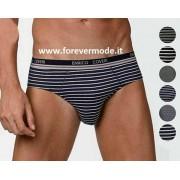 Coveri 3 Slip uomo Coveri in cotone rigato con elastico esterno logato