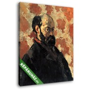 Paul Cézanne: Cézanne önarckép, rózsaszín háttér előtt (20x25 cm, Vászonkép )