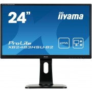 "Monitor LED iiyama 23.8"" XB2483HSU-B2, Full HD (1920 x 1080), HDMI, DVI, VGA, 4 ms, Boxe, Pivot (Negru) + Set curatare Serioux SRXA-CLN150CL, pentru ecrane LCD, 150 ml + Cartela SIM Orange PrePay, 5 euro credit, 8 GB internet 4G"