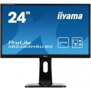 "Monitor LED iiyama 23.8"" XB2483HSU-B2, Full HD (1920 x 1080), HDMI, DVI, VGA, 4 ms, Boxe, Pivot (Negru)"