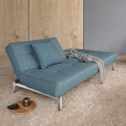 Innovation Splitback Schlafsofa B: 2100 H: 790 T: 1150 mm, chrom/hellblau 95-741010525-0-2