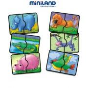 Miniland 36029 - Puzzle sonoro, soggetto: safari