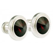 Mousie Bean Crystal Cufflinks Rd 70's Double Stone 001 Siam