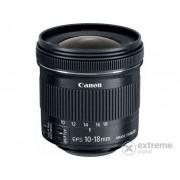 Obiectiv Canon 10-18/4.5-5.6 IS STM EF-S + parasolar + laveta