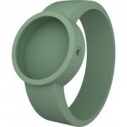 O Clock OCS25-M - Orologio da polso, cinturino in silicone colore verde