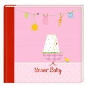 Coppenrath Eintragalbum - Unser Baby rosa 92396