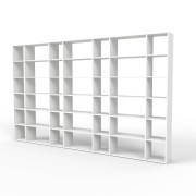 mycs MDF - bibliothèque moderne blanc - L 379 cm x H 232 cm x P 34 cm