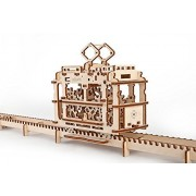 Unique Glue Free Eco Friendly Wooden Mechanical Self Assembly Moving Kit - Tram by Ugears