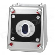 Compact ABS 4-Digit Code Laser Beam Safe Money Bank - Silver + Black (3 x AA)