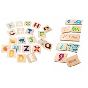 Planwood Alphabet and Number Tile Set